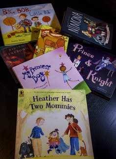 Several children's picture books that have LGBTQ characters