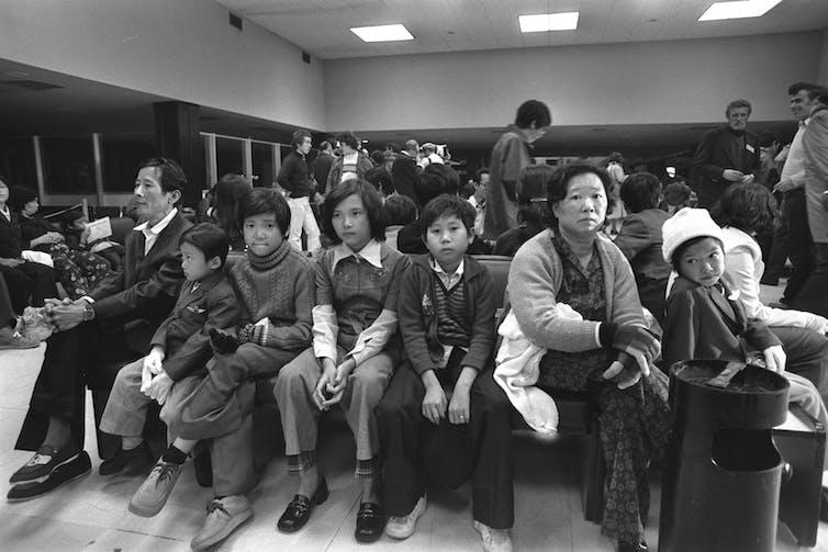 Vietnamese refugees en route to Israel