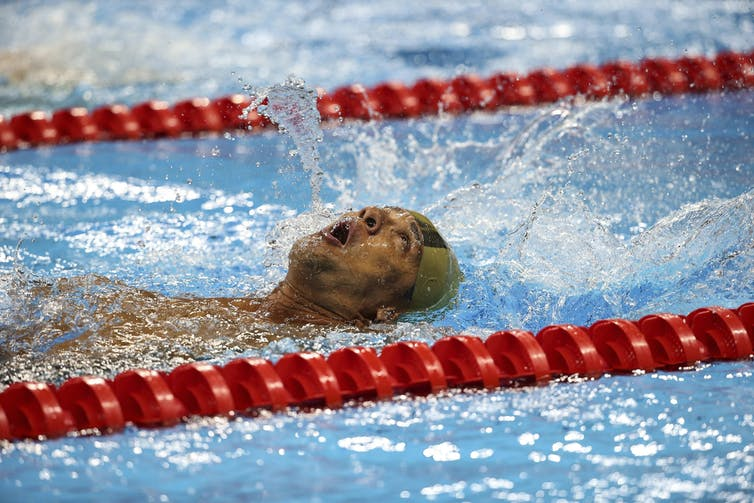 Greece's Dimitrios Karypidis competed in the backstroke S1 event in Rio.