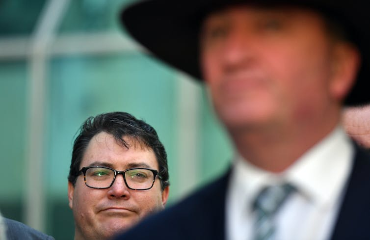 Nationals leader Barnaby Joyce and MP George Christensen.