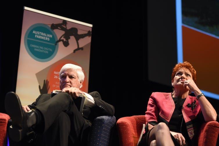 MP Bob Katter and senator Pauline Hanson.