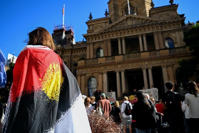 Stolen Generations protesters gather in Sydney.