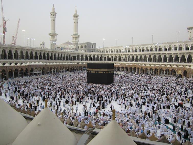 Photo of the Kaaba in Mecca, Saudi Arabia
