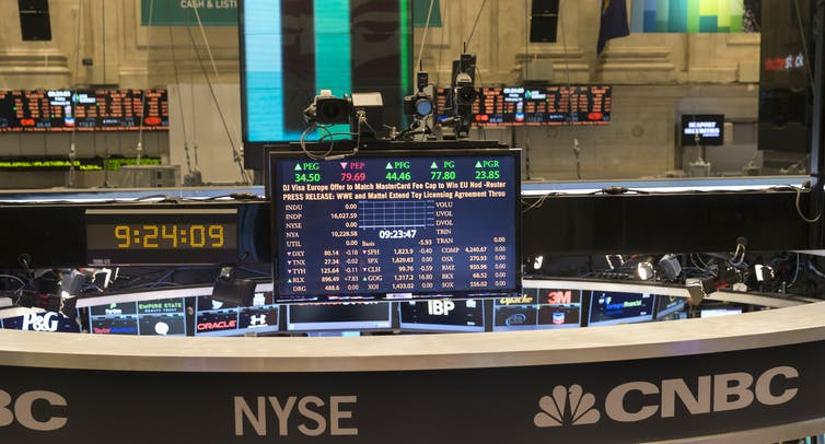 trading floor of New York Stock Exchange
