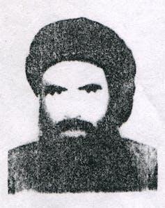A grainy image of former Taliban leader Mullah Omar