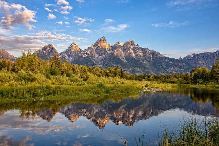 Mountain range in Wyoming.