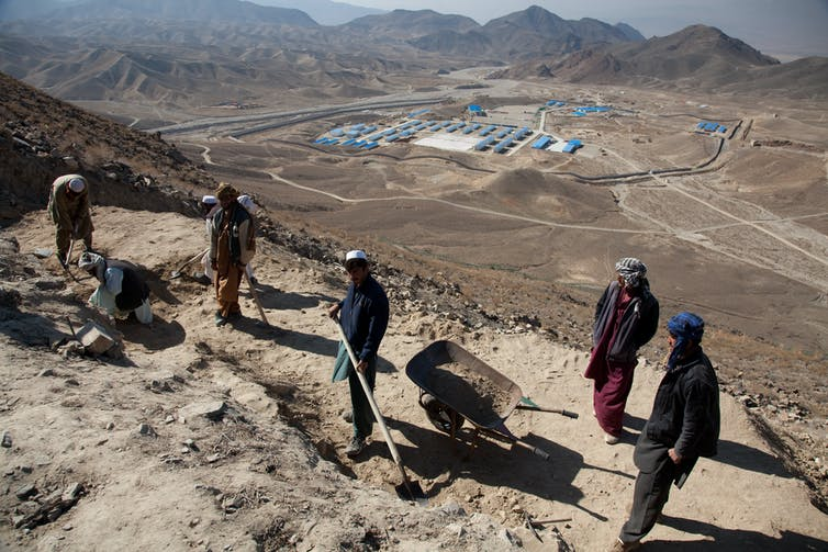 Mining camp built by a Chinese company in Mes Aynak, Afghanistan.