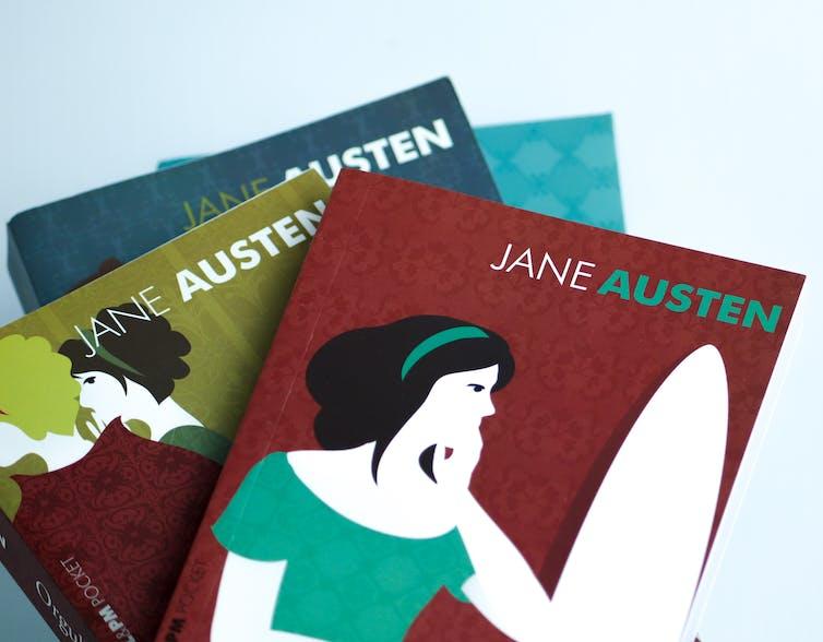 A stack of Jane Austen books