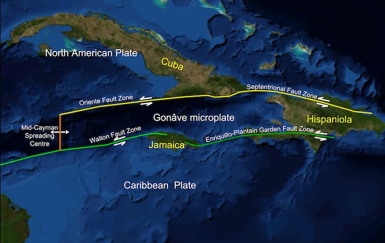 Colour map of the island of Hispaniola.