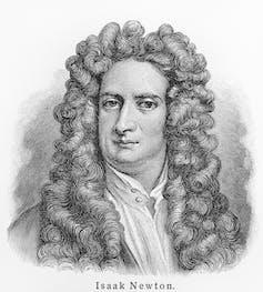 Drawing of Isaac Newton