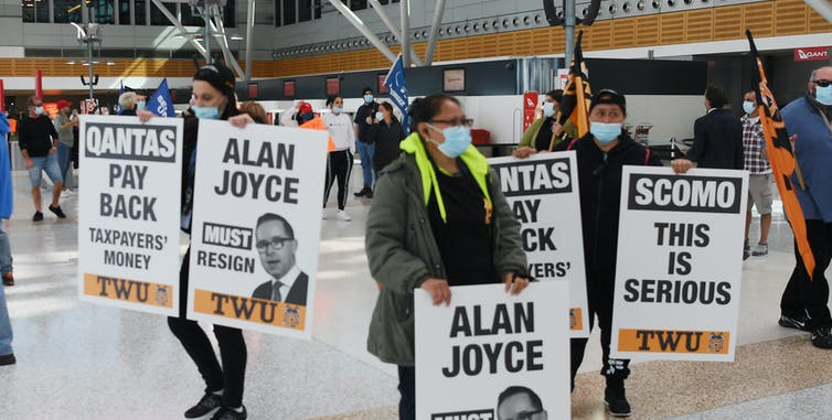 Qantas fights on against court ruling it unlawfully sacked 2,000 workers