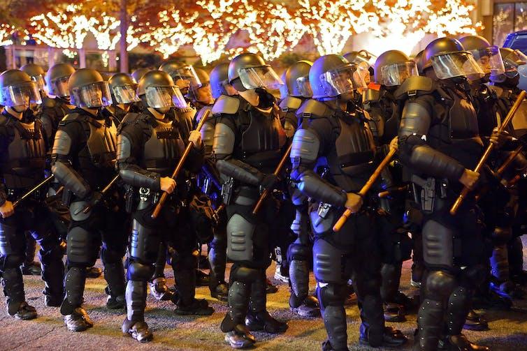 Atlanta police in riot gear.