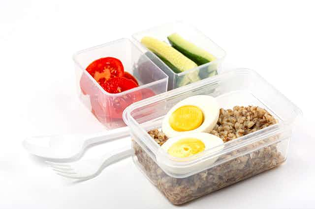Food in reusable containers