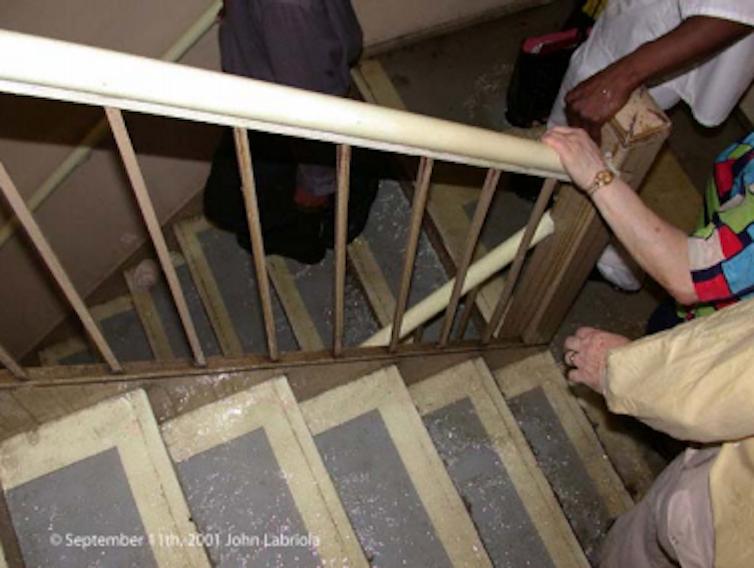 World Trade Center stairwell