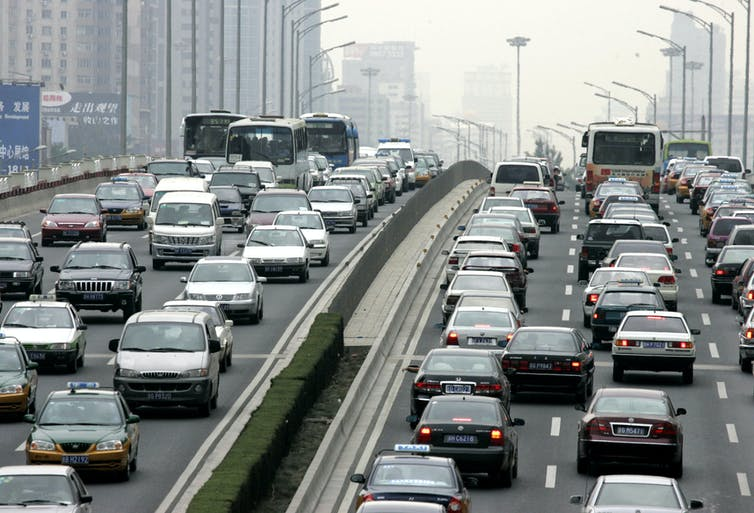 Un atasco en Beijing