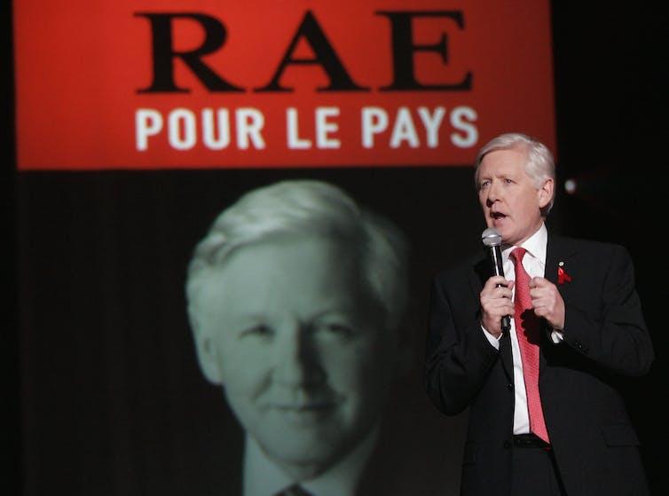 Bob Rae delivers a speech