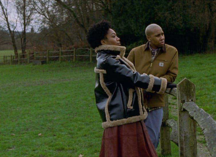Two Black women in a green paddock