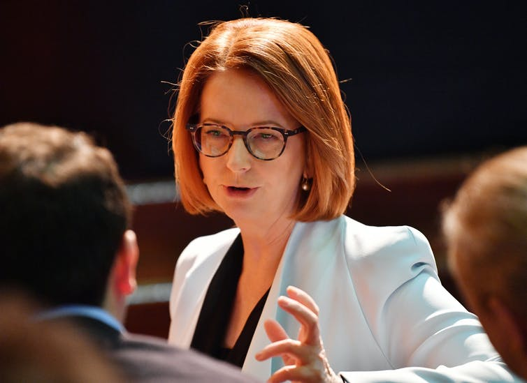 Former prime minister Julia Gillard in 2018.