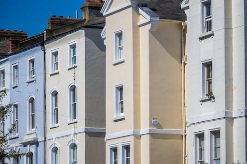 A row of terraced houses.