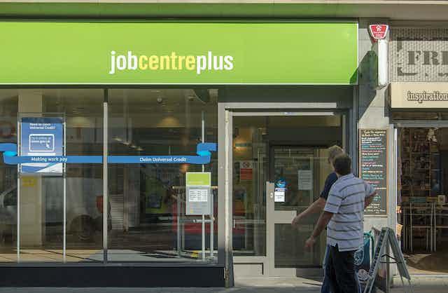 A high street job centre.