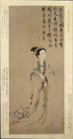 Circa 1368-1644 painting of moon goddess Chang'e,