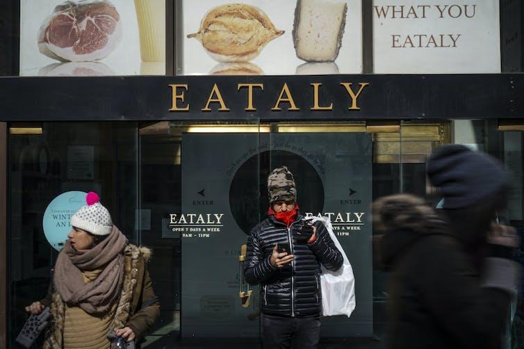 L'entrée du marché alimentaire Eataly de New York.