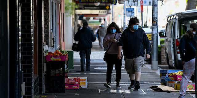 Pedestrians in Marrickville, Sydney.