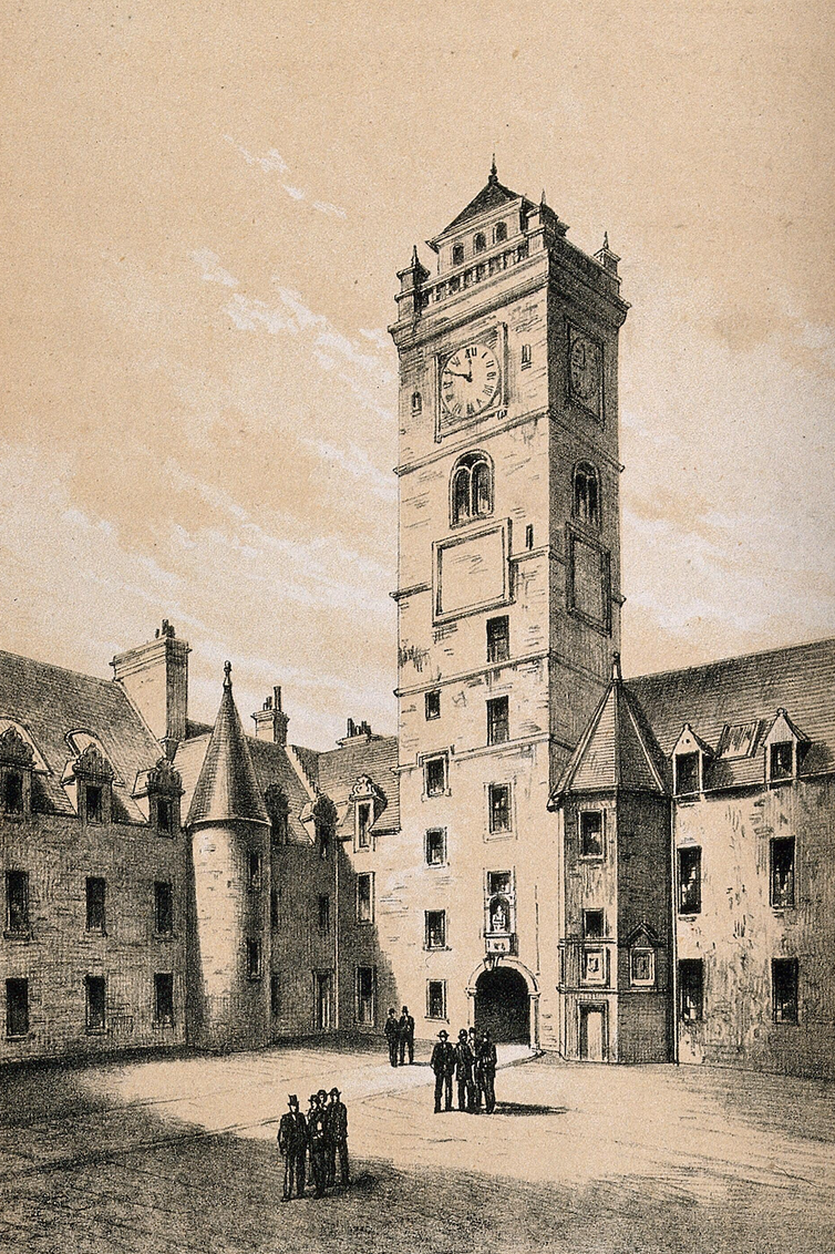 Image of an old Glasgow college building and tower.