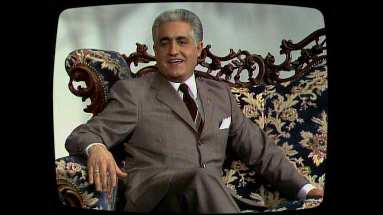 Still of a vintage TV ad