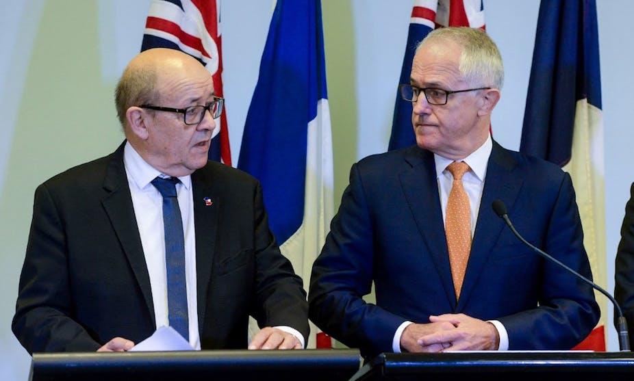 Jean-Yves Le Drian et Malcolm Turnbull