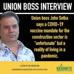 An example of memes about John Setka being shared on social media.