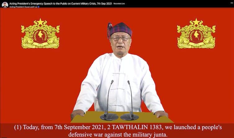 Duwa Lashi La of the national unity government