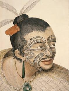 Sketch of a Māori chief