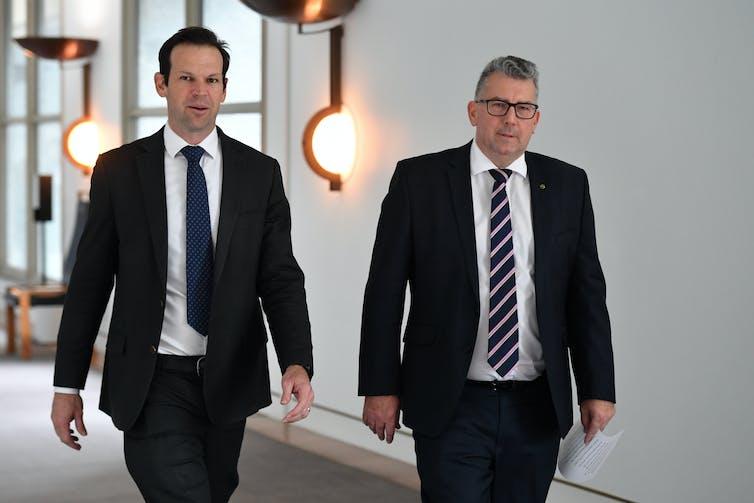 Nationals MPs Matt Canavan and Keith Pitt.