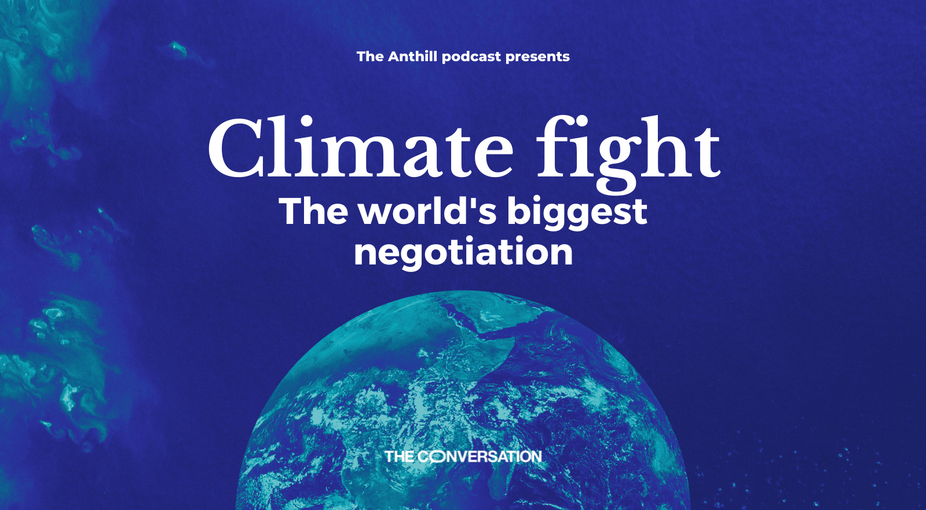 Promotional artwork for Climate Fight podcast series