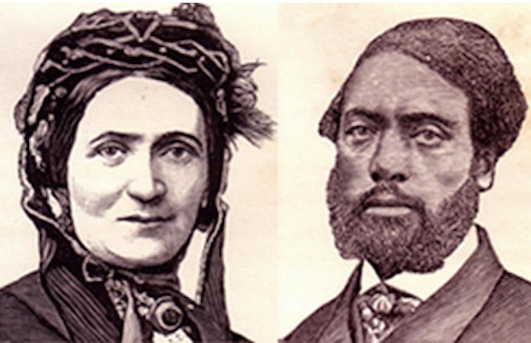 Illustrations of Ellen and William Craft.