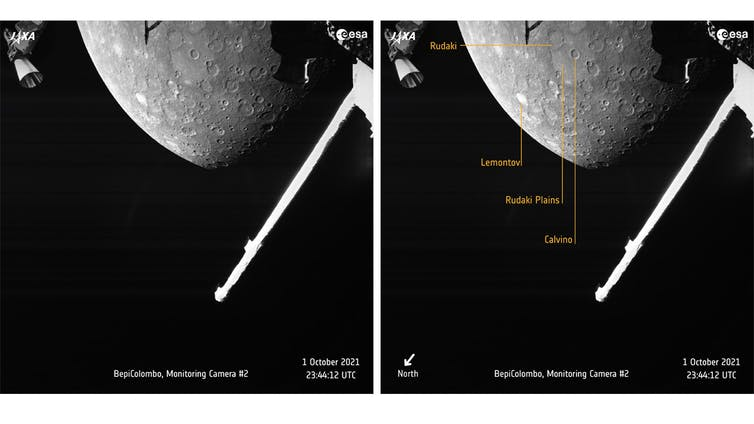 Mercury's North hemisphere