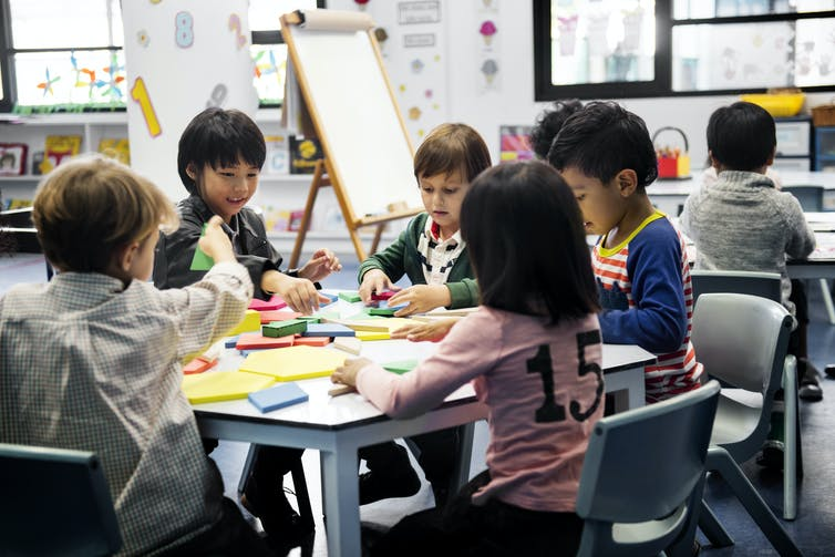 children at daycare
