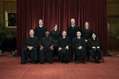 Members of the Supreme Court in 2021, in their robes