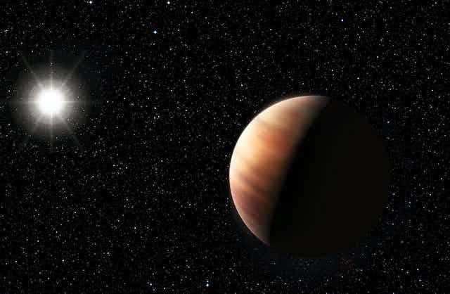 Vista artística de un exoplaneta.