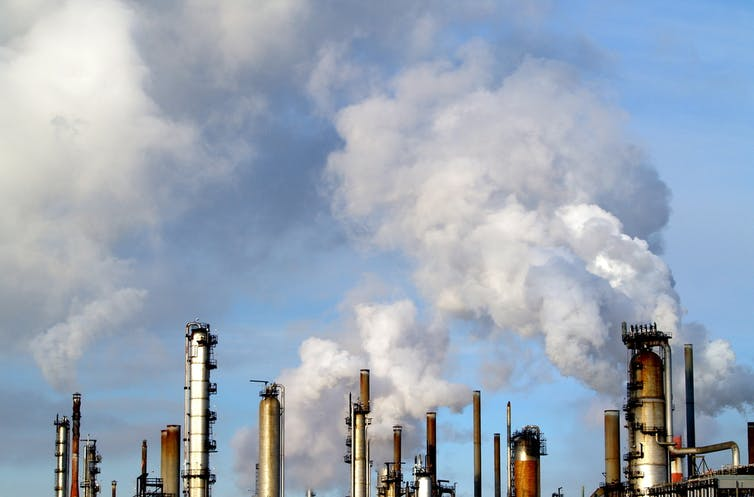 Refineries Project Emissions Into The Sky
