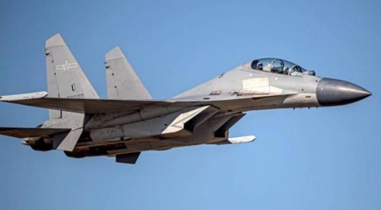 A Chinese PLA fighter jet