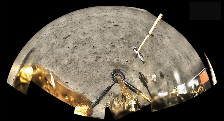 The Chang'e-5 landing site, photographed by the lander.