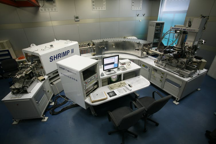The SHRIMP II instrument used for dating the basalt chips.