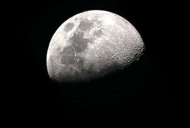 The moon.
