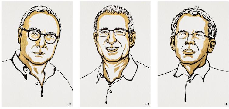 Nobel economics prize winners David Card, Josh Angrist and Guido Imbens.