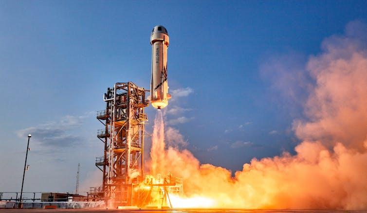The New Shepard launching.