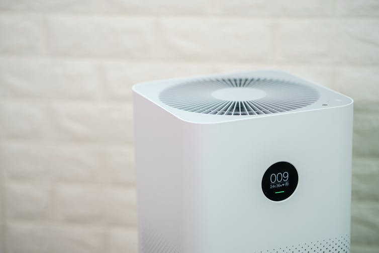 Air purifier inside a home or office