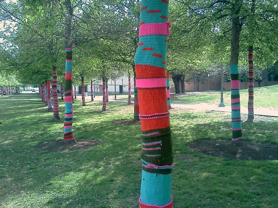 Knit one, purl one: the mysteries of yarn bombing unravelled