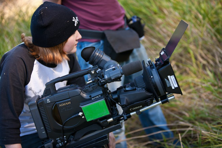 It's not just money that emerging filmmakers need – they also need help getting their work screened. vancouverfilmschool, CC BY-SA